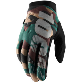 100% Brisker Cold Weather Bike Gloves green/black